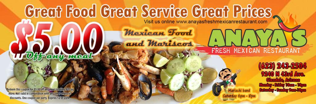 Anaya S New Menu Is Here Anaya S Fresh Mexican
